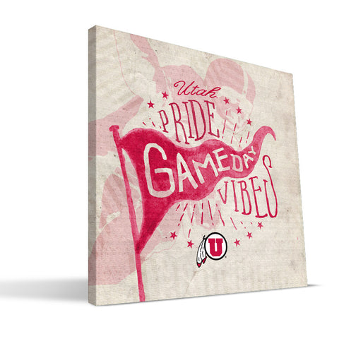 Utah Utes Gameday Vibes Canvas Print