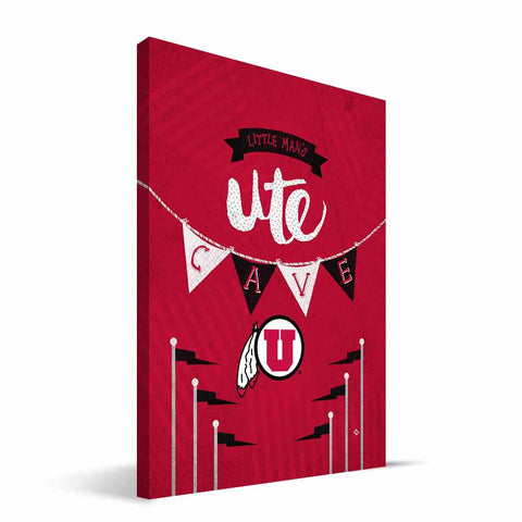 Utah Utes Little Man Canvas Print