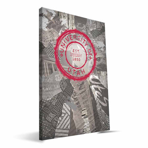 Utah Utes Scrapbook Canvas Print