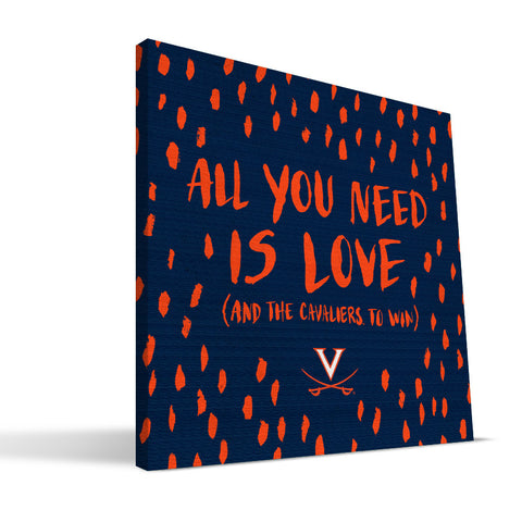 Virginia Cavaliers All You Need Canvas Print