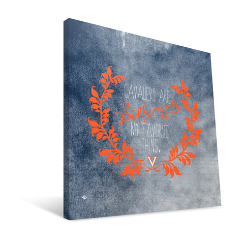 Virginia Cavaliers Favorite Thing Canvas Print