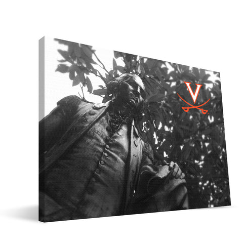 Virginia Cavaliers George Washington Statue Canvas Print