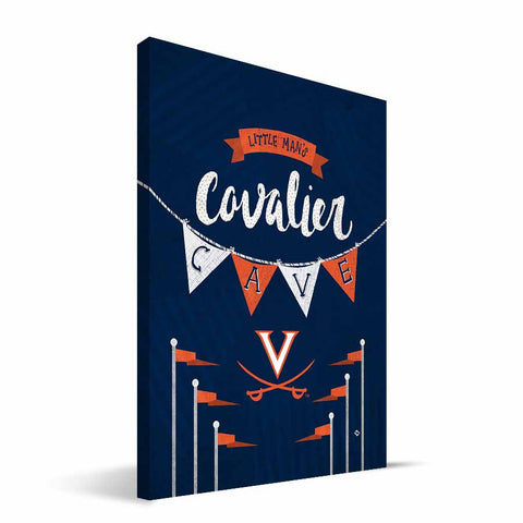 Virginia Cavaliers Little Man Canvas Print