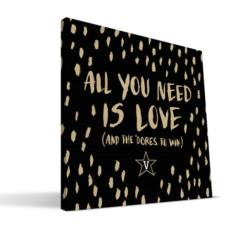 Vanderbilt Commodores All You Need Canvas Print