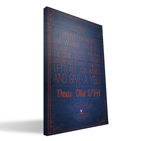 Virginia Cavaliers Song Canvas Print