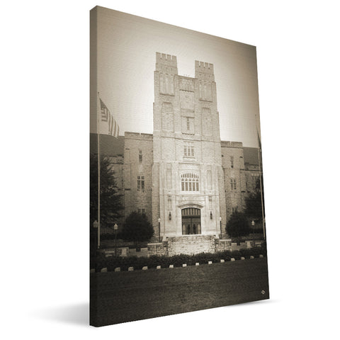 Virginia Tech Hokies Burruss Hall Canvas Print