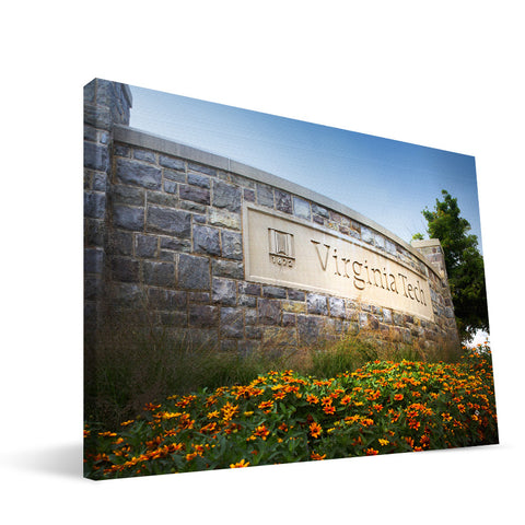 Virginia Tech Hokies Campus Entry Canvas Print
