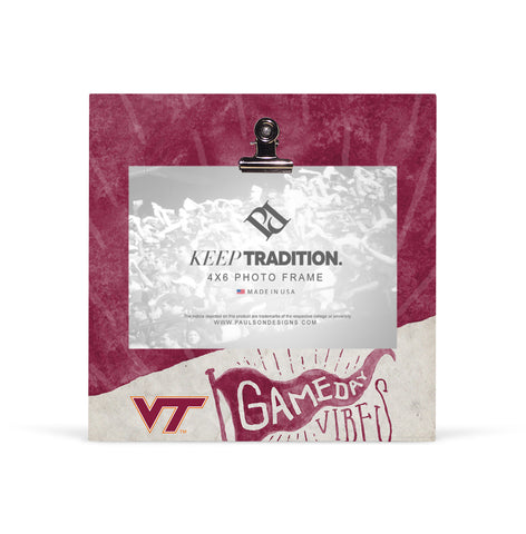Virginia Tech Hokies Gameday Vibes Picture Frame with Clip