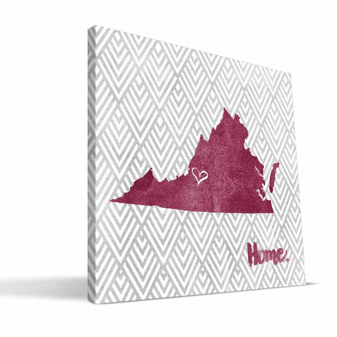 Virginia Tech Hokies Home Canvas Print