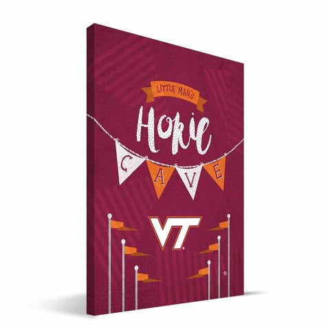 Virginia Tech Hokies Little Man Canvas Print