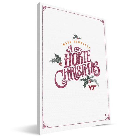 Virginia Tech Hokies Merry Little Christmas Canvas Print
