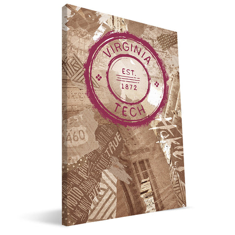 Virginia Tech Hokies Scrapbook Canvas Print