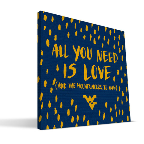 West Virginia Mountaineers All You Need Canvas Print