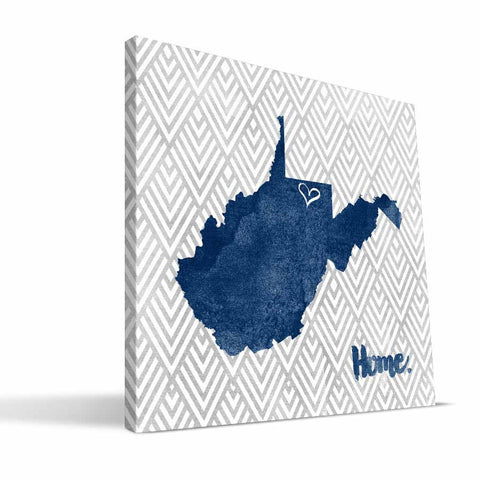 West Virginia Mountaineers Home Canvas Print