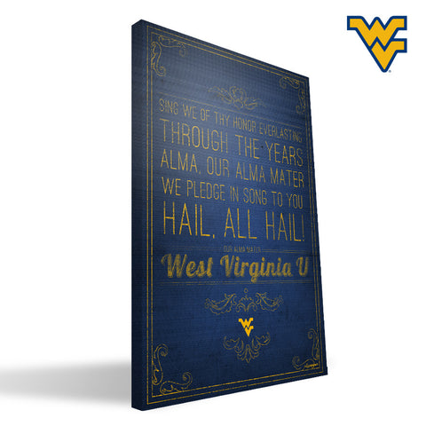 West Virginia Mountaineers Song Canvas Print