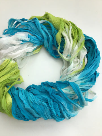 New colours! Dip dyed silk chiffon.