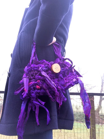 sari silk ribbon purse