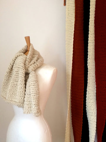 Very Quick And Easy Scarf Pattern Using Silk And Merino Wool Yarn