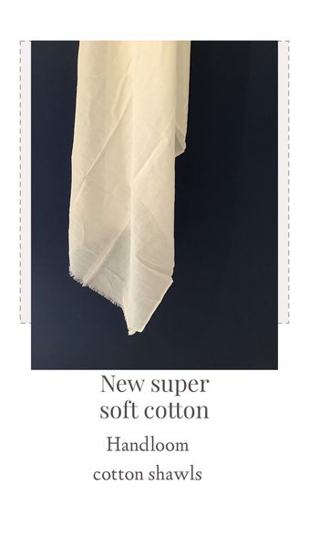Handwoven cotton shawl for dying. Made by hand in India. Super soft. SOLD OUT