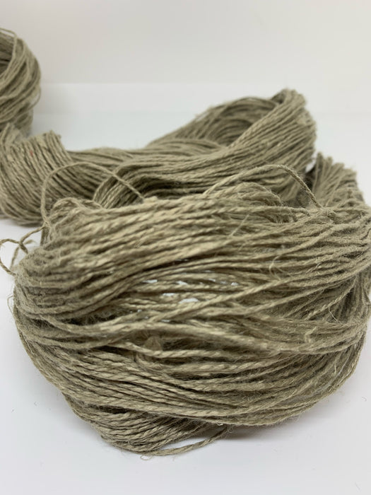 Natural chemical free linen yarn. Pure linen. Natural brown.