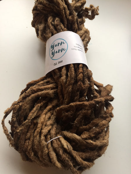 The doyenne of yarn! Wild forest silk. Tassar yarn. Super bulky unusual silk yarn.