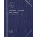 1948-1963 Used Benjamin Franklin Half Dollar Album Trifold Whitman No 9032 Coin