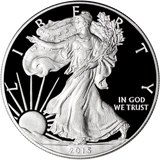 2015 W American Silver Eagle Proof $1 Us Mint