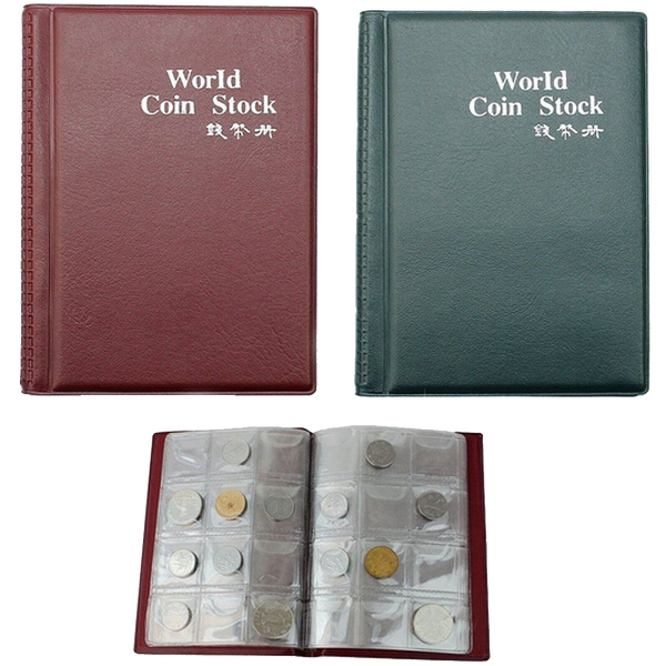 Pack Of 2 120 Coin Pockets Collection Collecting Storage Holder Money Penny Album Book
