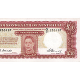 Ten Pound Coombs Watt Australian Banknote Good Fine