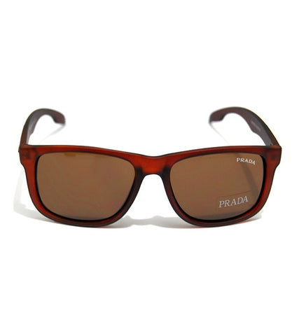 Fashionable Brown Plastic Frame Sunglass 103