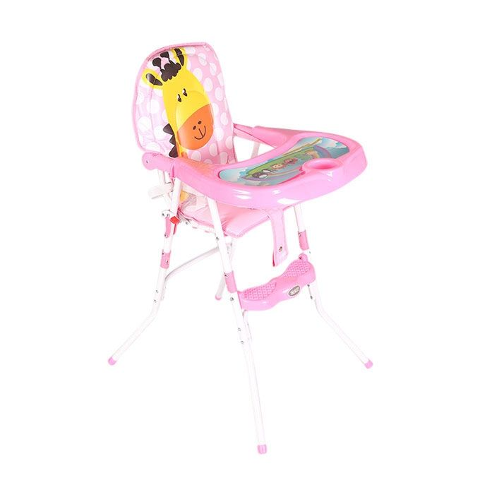 Kids Club Pink Plastic High Chair For Kids(BS-05)
