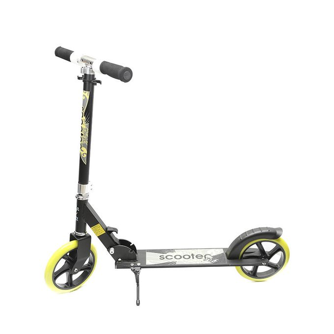 Baixi Big Wheel Large Size Scooter - Black and Yellow(BCS-001)