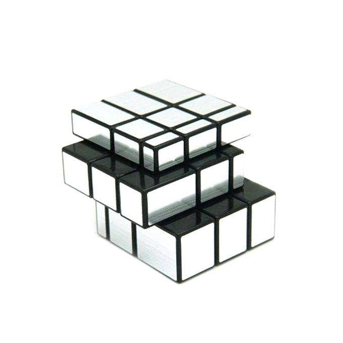 Baby Market Mirror Block Rubik's Cube - Silver And Black(TG-015)