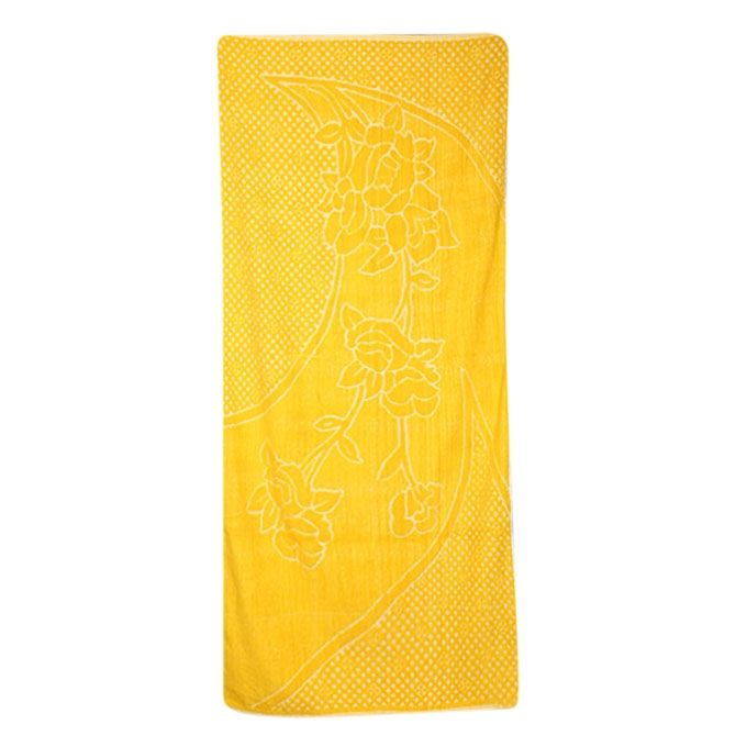 Thistle Yellow Cotton Baby Towel(Bc-12)