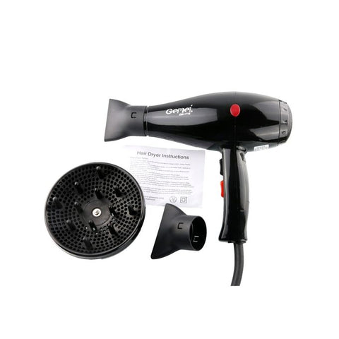 Gemei  Hair Dryer – Black (HC-010)