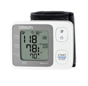Omron HEM-6121 Automatic Wrist Blood Pressure Monitor - White