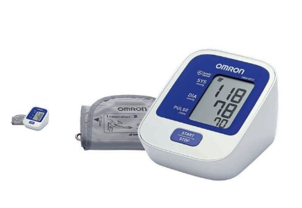 Omron Digital Blood Pressure Monitor - HEM-8712 - White & Blue