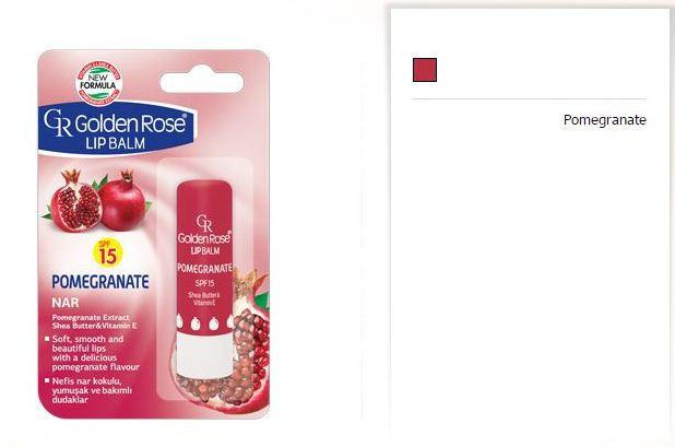 Golden Rose Lip Balm Pomegranate Spf 15