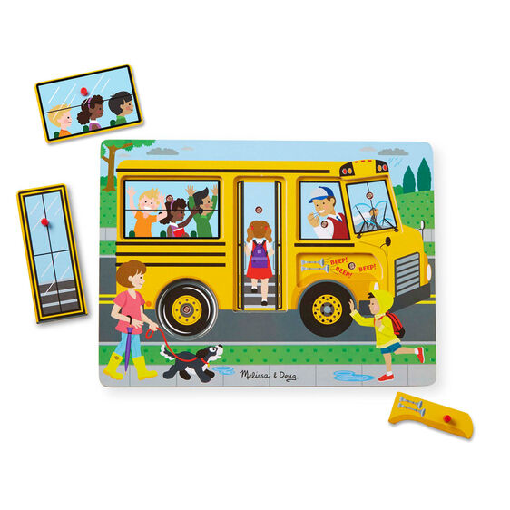 Melissa & Doug The Wheels on the Bus Sound Puzzle (739)