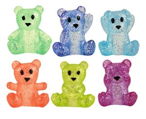 Twinkle Top Teddy Bears Pencil Toppers, Assorted Colors