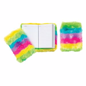 Raymond Geddes Furry Rainbow Memo Journal Notebook (70864)