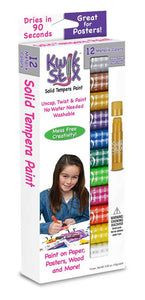 The Pencil Grip Kwik Stix Solid Tempura Paint, Set of 12 Metalix Colors (TPG-614)