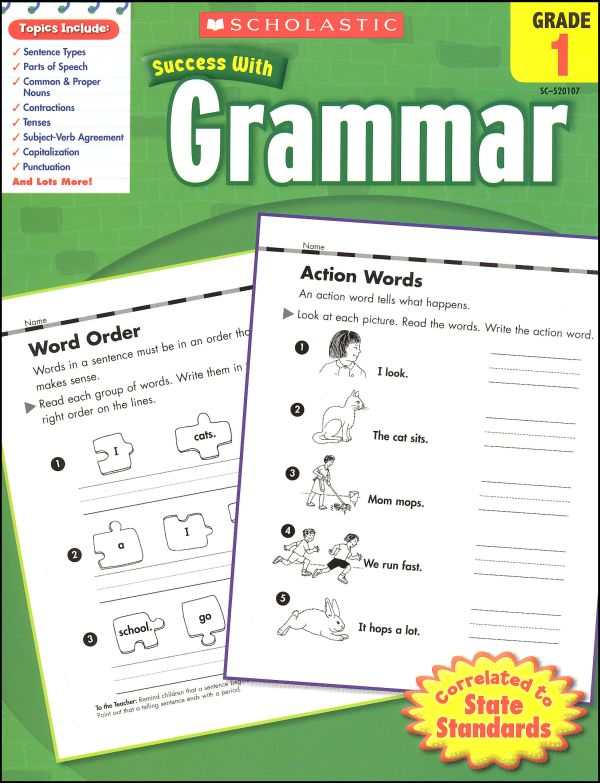 Scholastic Success with GRAMMAR Grade 1 Activity Book (SC-520107)