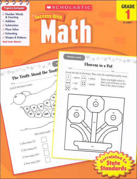 Scholastic Success with MATH Grade 1 Activity Book (SC-520071)