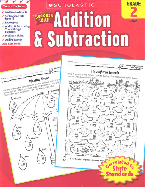 Scholastic Success with ADDITION & SUBTRACTION Grade 2 (SC-520097)