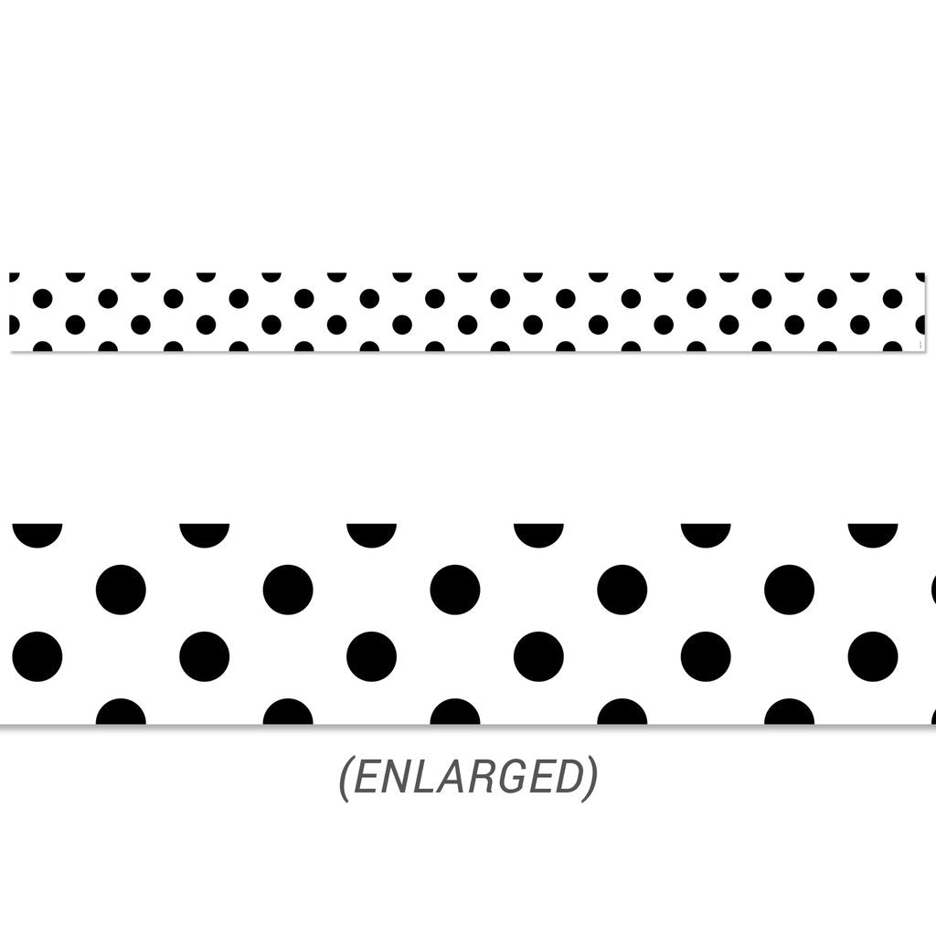 Creative Teaching Press Black Polka Dots Border (10063)