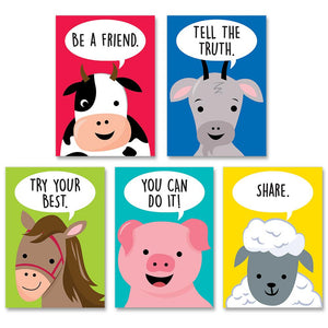 Creative Teaching Press Farm Friends Inspire U 5-Poster Pack (10266)