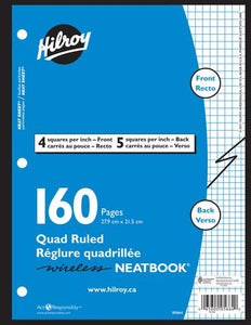 Hilroy Quad Ruled Wireless Neatbook (05664)