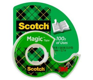 "3M Scotch Magic Tape, Matte Finish, 3/4"" x 300"" (105)"
