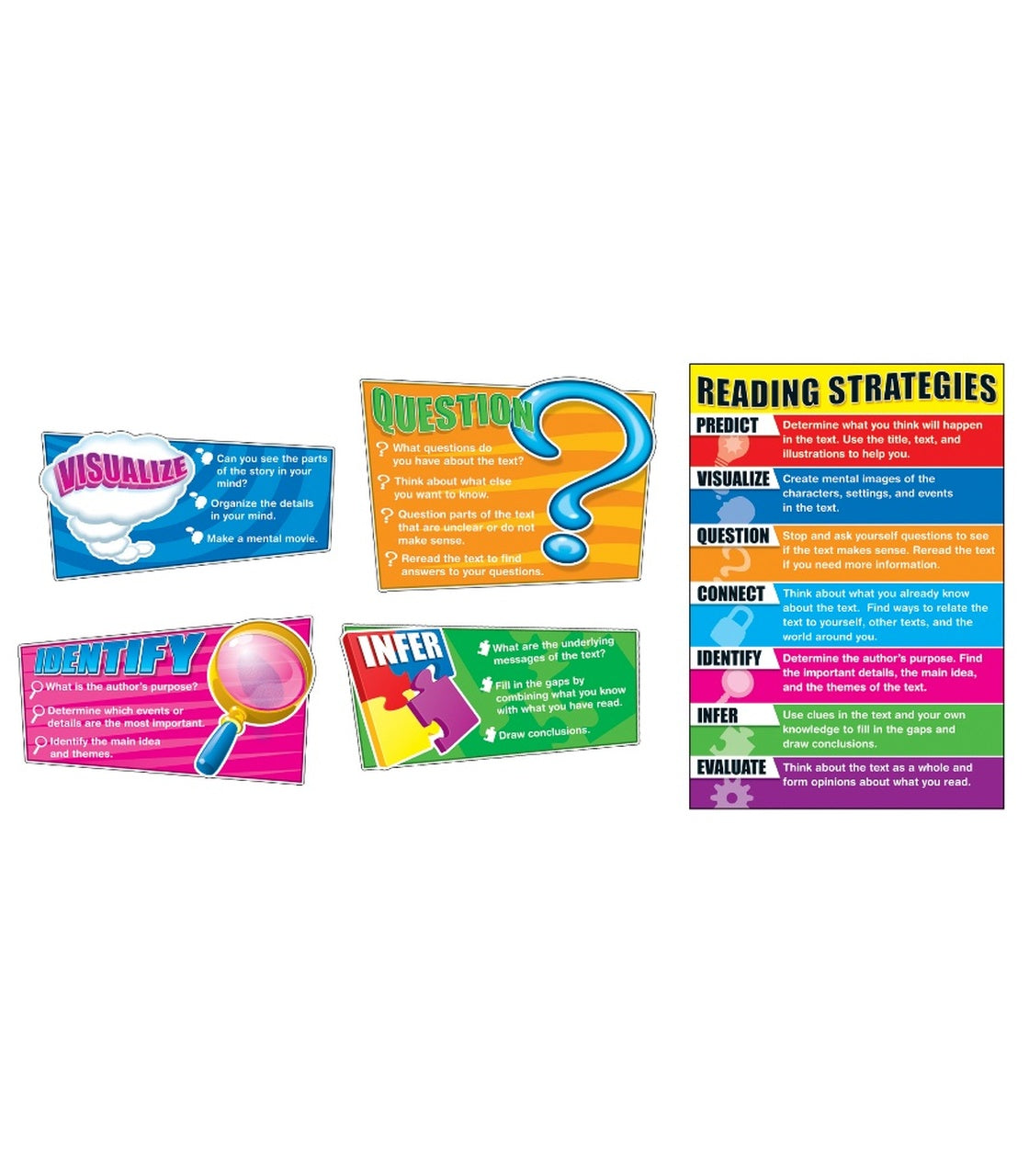 Carson Dellosa Reading Strategies Bulletin Board Set, Grade K-5 (110103)